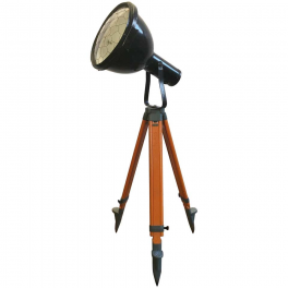 Industriální smaltovaný reflektor na stativu