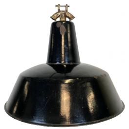 Industriální smaltovaná lampa 1950