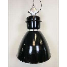Industriální smaltovaná lampa šedá